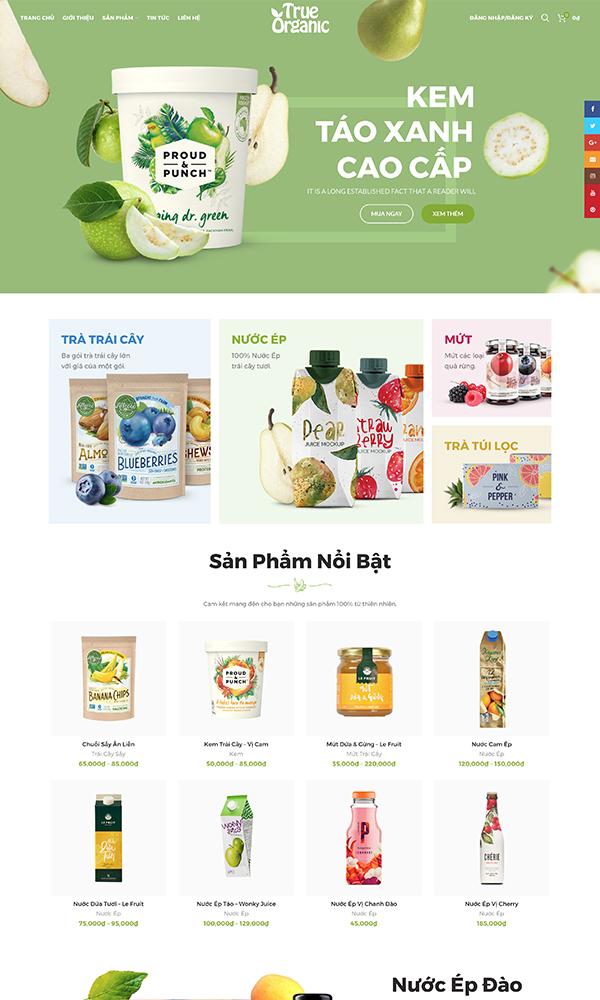 Theme thực phẩm True Organic