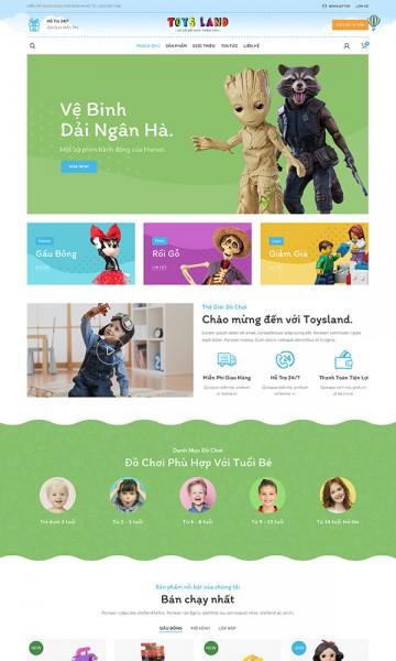Theme đồ chơi trẻ em Toys Land