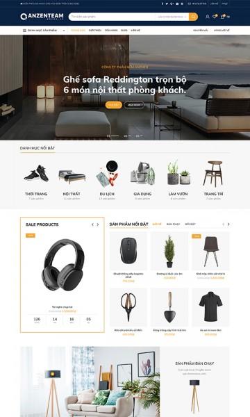 Theme bán hàng Retail Store