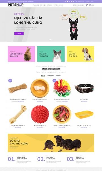 Theme sản phẩm cho thú cưng Petshop