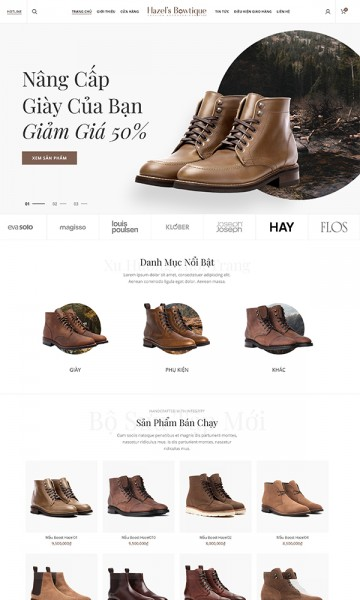 Theme thời trang Boots for men