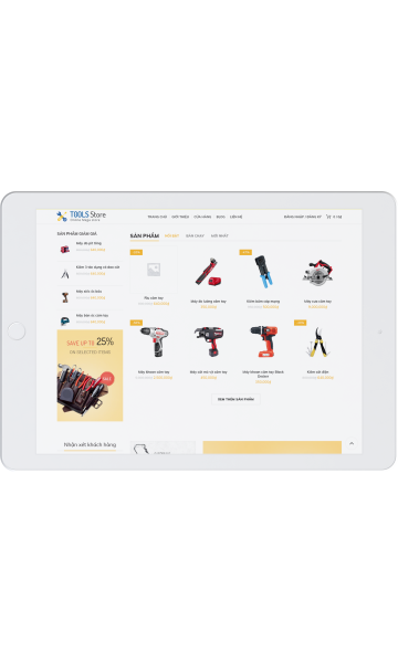 Theme xây dựng Tool Storre
